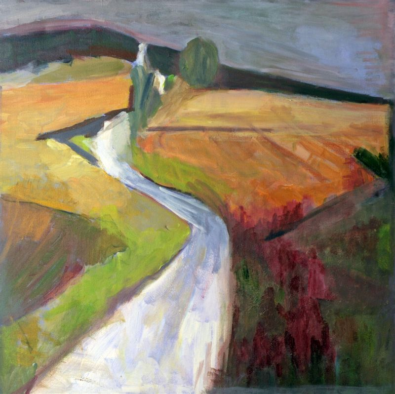R. Francis - Walking the Milky Way # 1, Acrylic on Canvas, 2011, 30